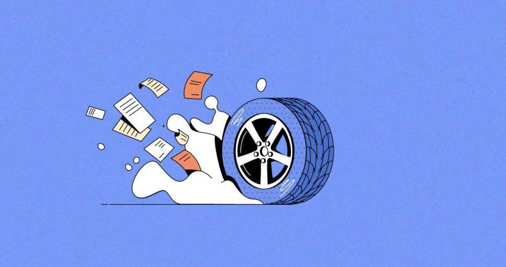 A tire, symbolising Michelin