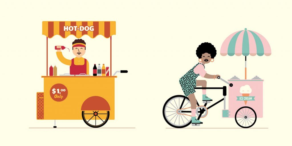 street food vendors and SaaS products